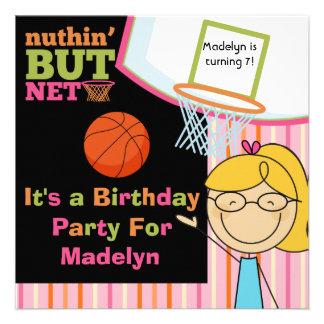 El cumpleaños rubio del baloncesto de los vidrios anuncios
