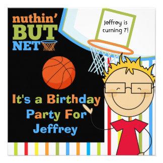 El cumpleaños rubio del baloncesto de los vidrios anuncios personalizados