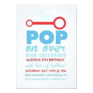El cumpleaños temático del fiesta de la burbuja anuncio personalizado