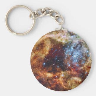 El cúmulo de estrellas R136 estalla hacia fuera la Llaveros