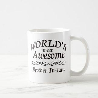 El cuñado más impresionante del mundo taza básica blanca
