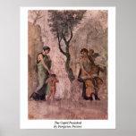El Cupid castigado por el pintor de Pompeian Posters