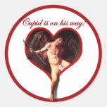 El Cupid de Caravaggio que viene para el el día de Pegatina Redonda