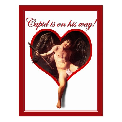 El Cupid de Caravaggio que viene para el el día de Postal