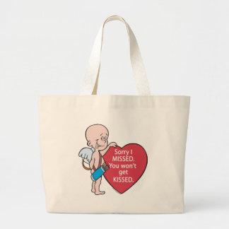 El Cupid divertido faltó productos Antis-Vday Bolsa Tela Grande