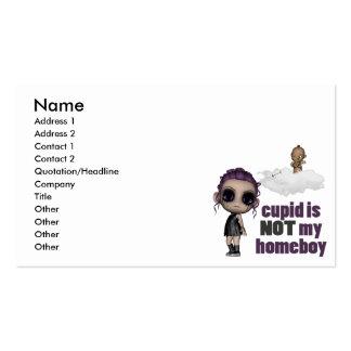 el cupid no es mi chica del punk del homeboy tarjetas de visita