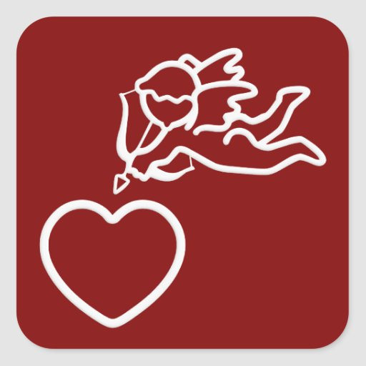 El Cupid pega a los pegatinas de encargo