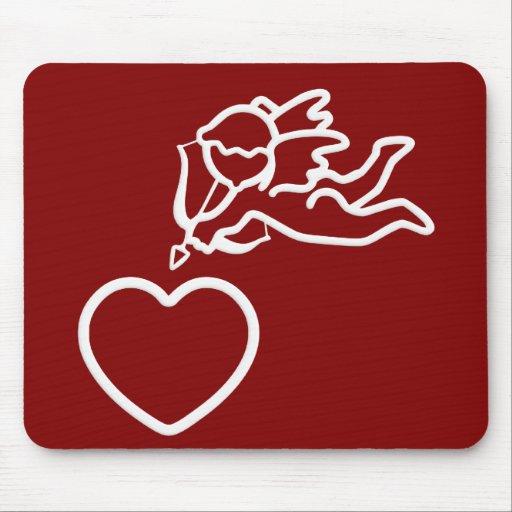 El Cupid pega el mousepad de encargo Tapete De Raton