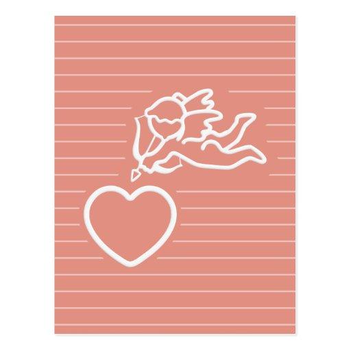 El Cupid pega la postal de encargo