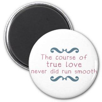 El curso del amor verdadero imán redondo 5 cm