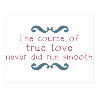El curso del amor verdadero tarjeta postal