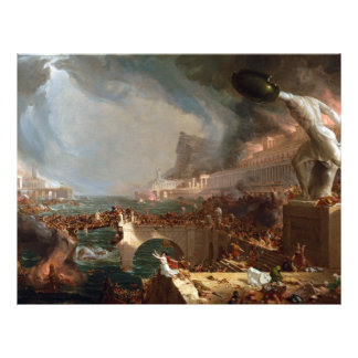 El curso del imperio: Destrucción por el col de Plantilla De Membrete