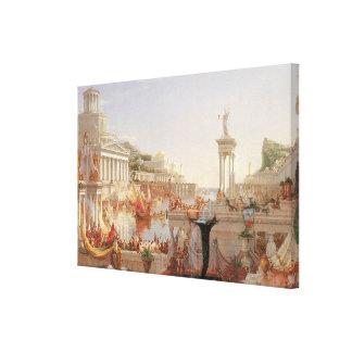 El curso del imperio la consumación del imperio impresiones de lienzo