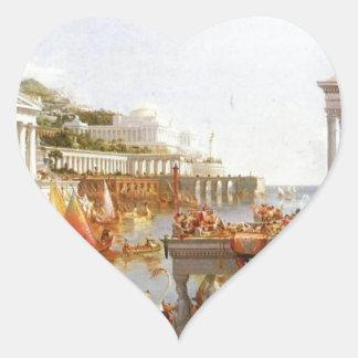 El curso del imperio: La consumación… Pegatina En Forma De Corazón