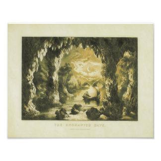 El curtidor y la impresión de la cueva de Ives Fotografía