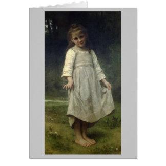 El Curtsey - William-Adolphe Bouguereau Tarjeta De Felicitación