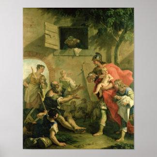 El Cyrus infantil con el pastor Póster