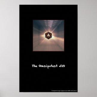 El d20 omnipotente - impresión posters