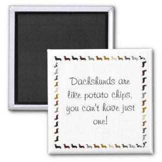 El dachshund-can't tiene apenas uno imán para frigorífico