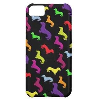 El Dachshund colorido caprichoso y de la diversión Funda Para iPhone 5C