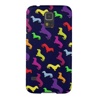 El Dachshund colorido y de la diversión caprichoso Carcasa De Galaxy S5
