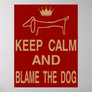 El Dachshund, guarda el perro tranquilo de la culp Impresiones