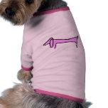 El Dachshund rosado Camisa De Mascota