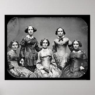 El Daguerreotype 1845 de las hermanas de Clark Póster