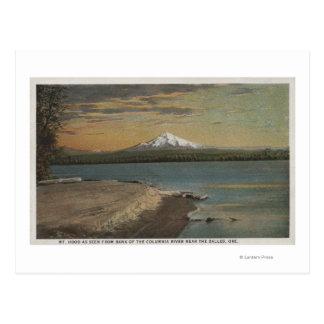 El Dalles, Oregon - la capilla del Mt. de Columbia Tarjeta Postal