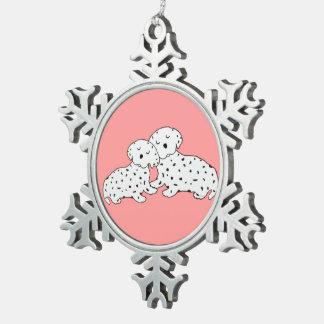 El Dalmatian dulce soña el ornamento del copo de n Adornos