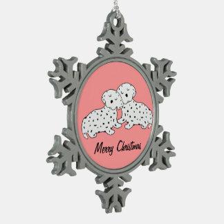 El Dalmatian dulce soña el ornamento del navidad Adorno