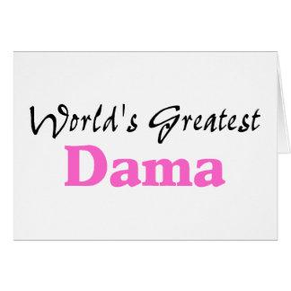 El Dama más grande del mundo Tarjeta De Felicitación