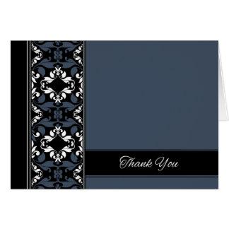 El damasco azul y negro le agradece cardar tarjeta de felicitación