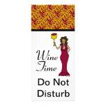 """""""El damasco de la diva del tiempo del vino"""" no per Tarjetas Publicitarias Personalizadas"""