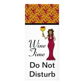 """""""El damasco de la diva del tiempo del vino"""" no per Tarjetas Publicitarias A Todo Color"""