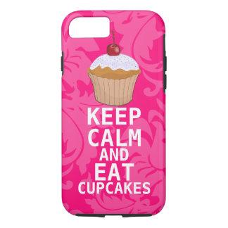 El damasco de las rosas fuertes GUARDA CALMA Y Funda iPhone 7