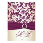 El damasco del ciruelo con el boda IMPRESO de la Invitacion Personal