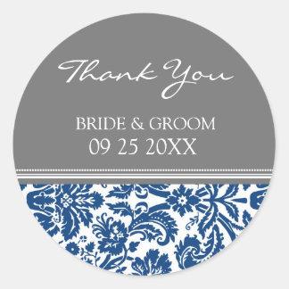 El damasco del gris azul le agradece las etiquetas pegatina redonda