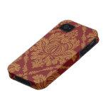 El damasco del Victorian, ornamentos, remolina - iPhone 4/4S Carcasas