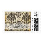 El damasco del vintage/le agradece, ducha nupcial, sello