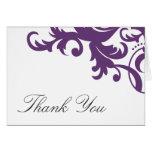 El damasco elegante púrpura del ciruelo le agradec felicitación