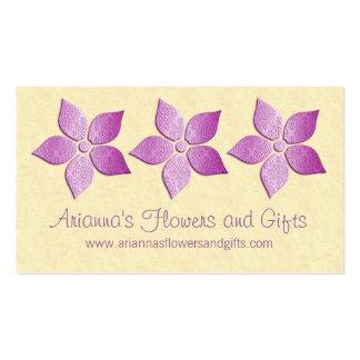 El damasco florece tarjeta de visita floral