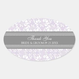 El damasco gris de la lila le agradece las etiquet