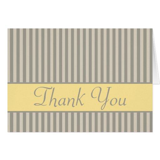 El damasco gris le agradece Notecard Tarjeta Pequeña