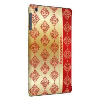 El damasco intrépido rico brillante el | del rojo carcasa para iPad mini