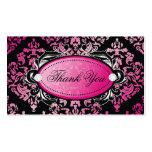 El damasco lujosamente rosado 311 le agradece las  tarjetas personales