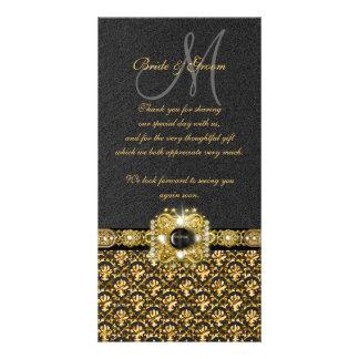 """El damasco negro del oro """"le agradece """" tarjetas personales"""