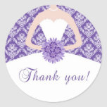 El damasco púrpura le agradece pegatina
