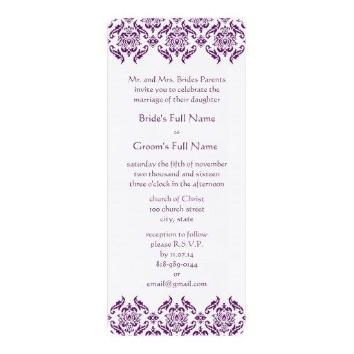 El damasco púrpura radiante remolina invitación