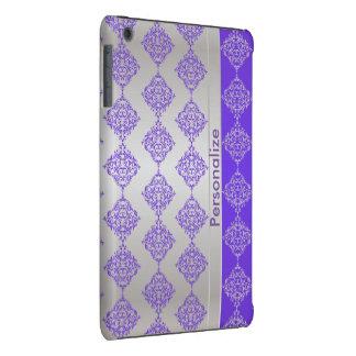El damasco púrpura y de plata rico brillante el | fundas de iPad mini retina
